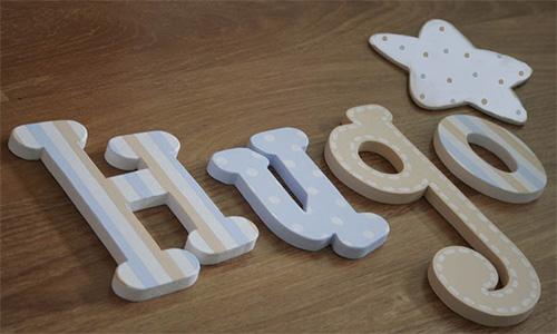 Artesan a y originalidad para la habitaci n infantil blog cuidado infantil - Letras de madera decorativas ...