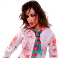 Disfraz de zombie mujer para Halloween