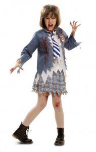 Disfraz de zombie niña para Halloween