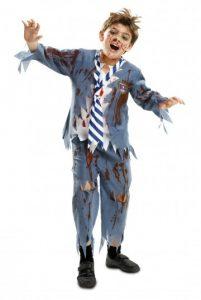 Disfraz de zombie niño para Halloween