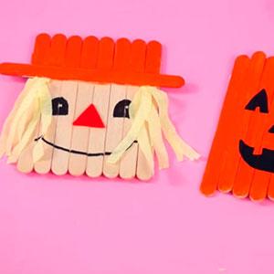 Hacer espantapájaros de Halloween