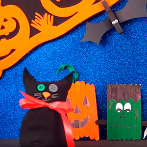 Hacer gato de Halloween