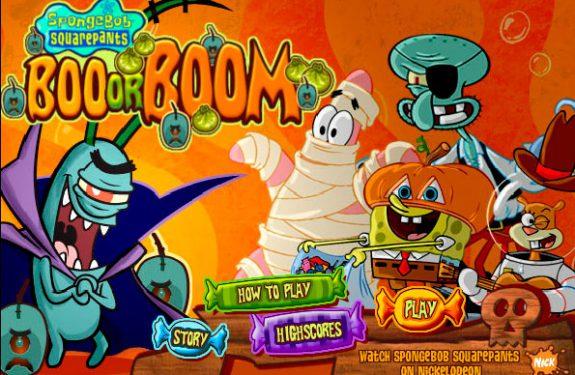 Juego infantil Bob Esponja Halloween