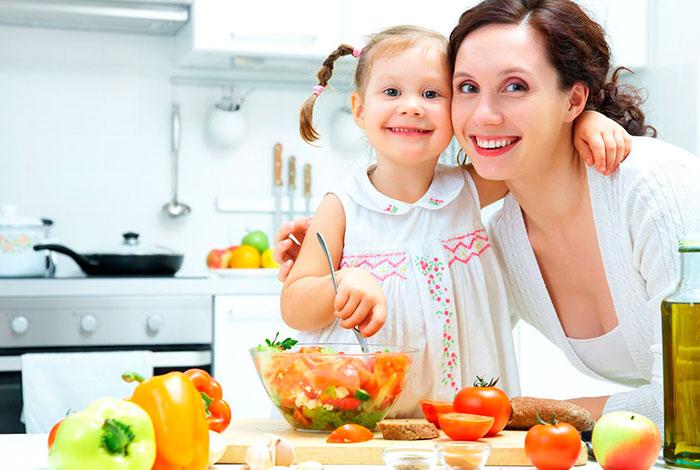 Verduras en la dieta para niños