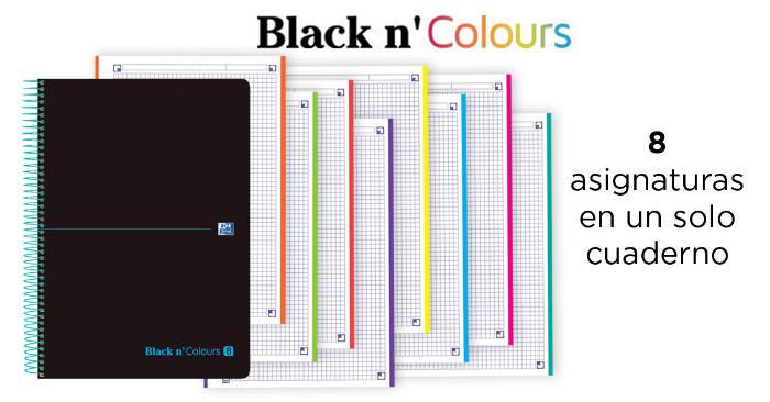 Cuadernos con separadores de asignaturas